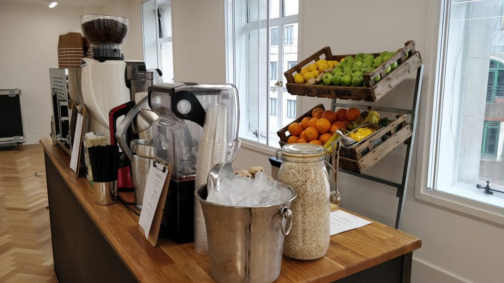 coffee and smoothie bar