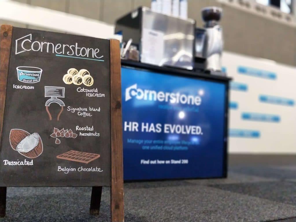 A chalkboard menu for Cornerstone promo