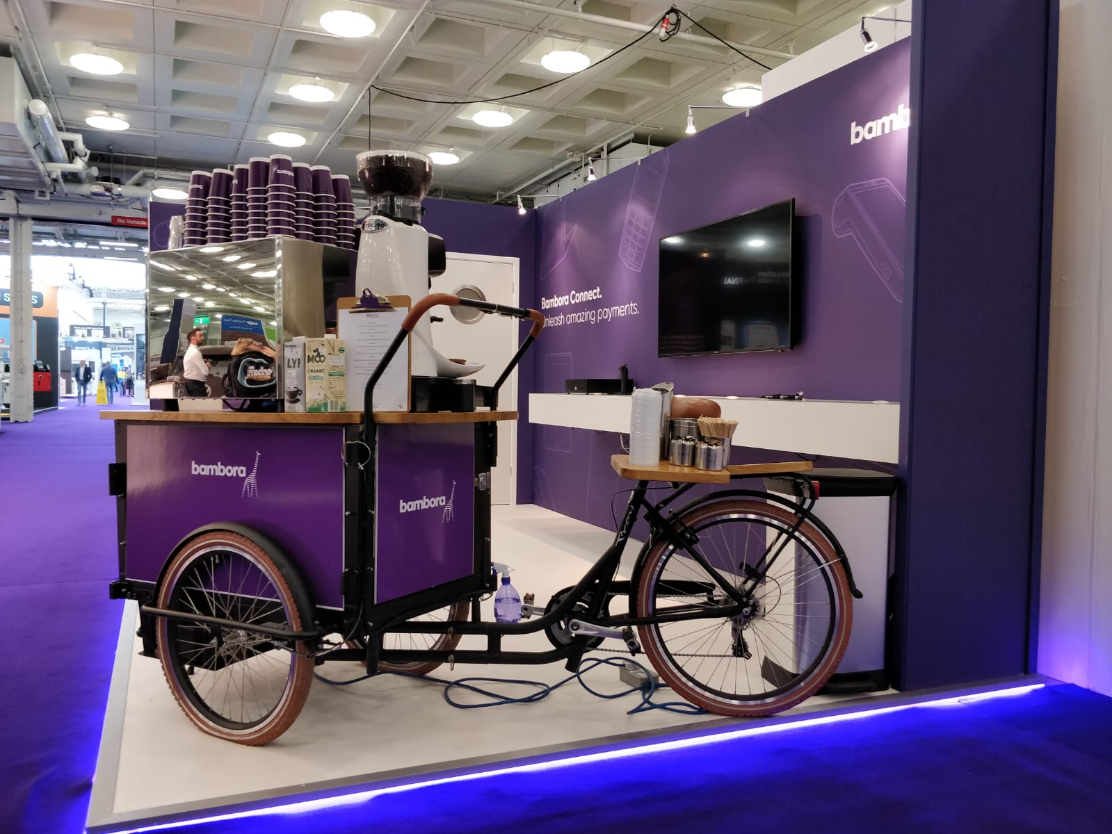 Exhibition coffee setup on one of our bikes