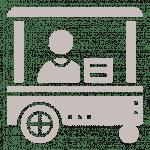 Coffee bike cart icon